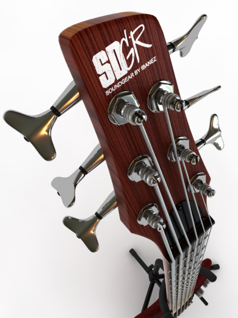 3D Model Bass Guitar Ibanez SR506 (6-strings)