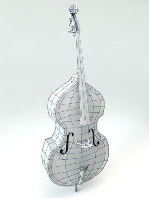 3D model of Upright Bass (Double Bass, Contrabass)