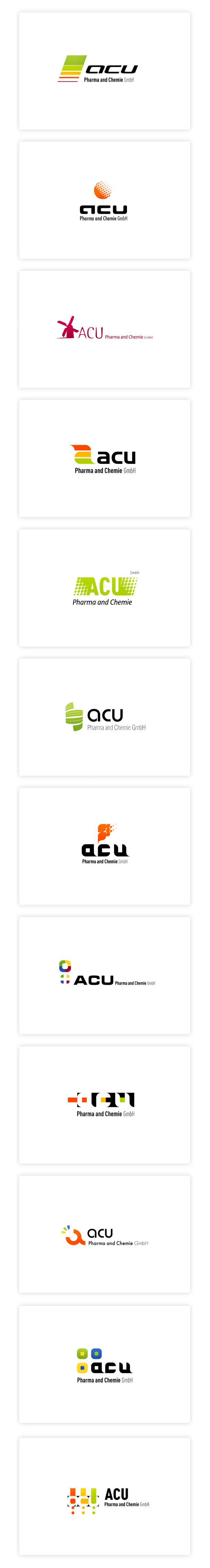 ACU Pharma, logo versions.