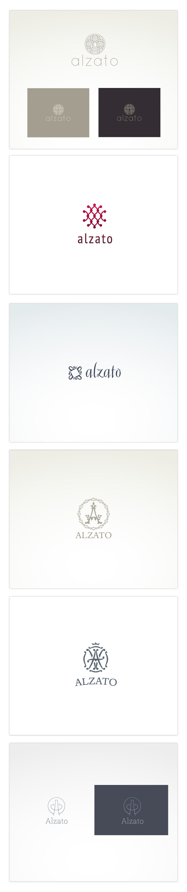 Alzato, other logo versions.