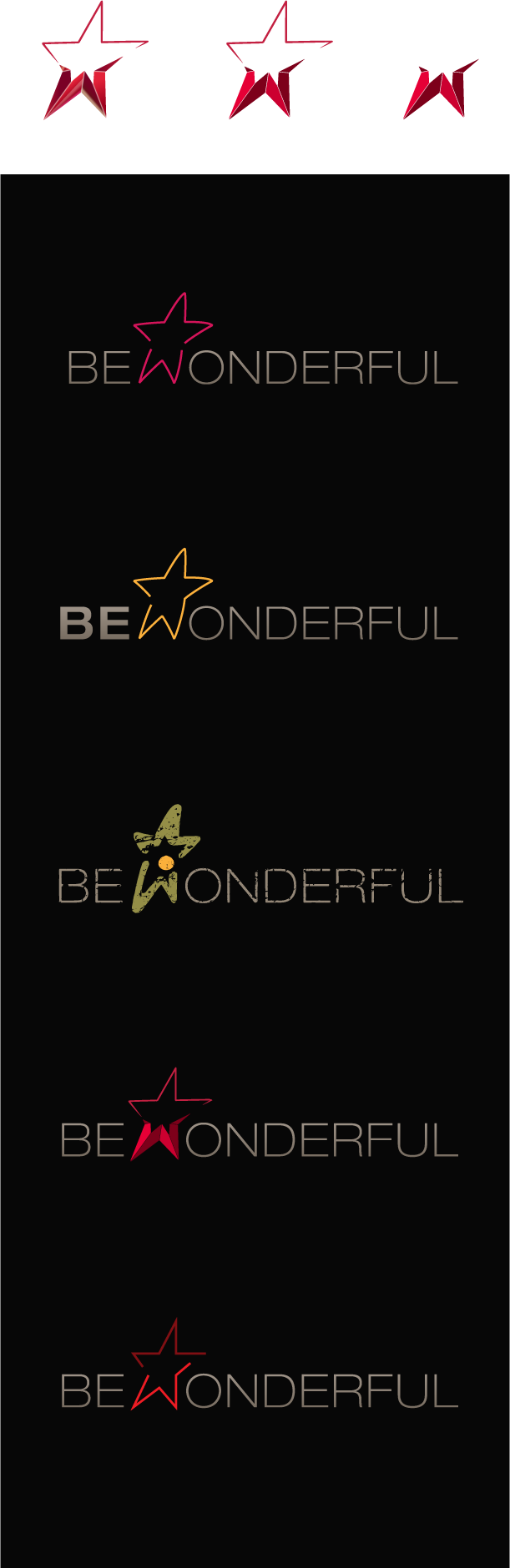 Bewonderful, other logo versions.
