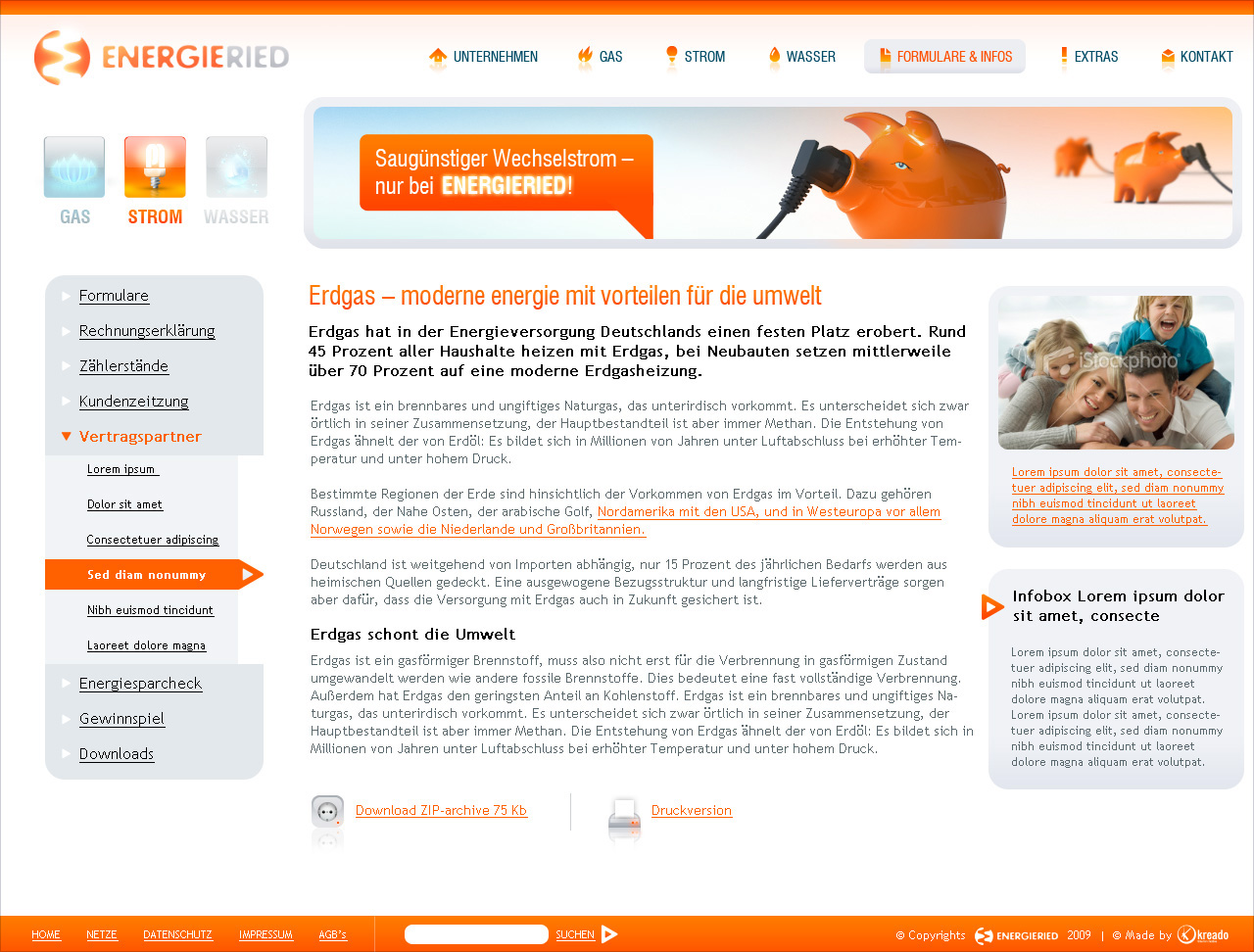 Energieried redesign, inside page.