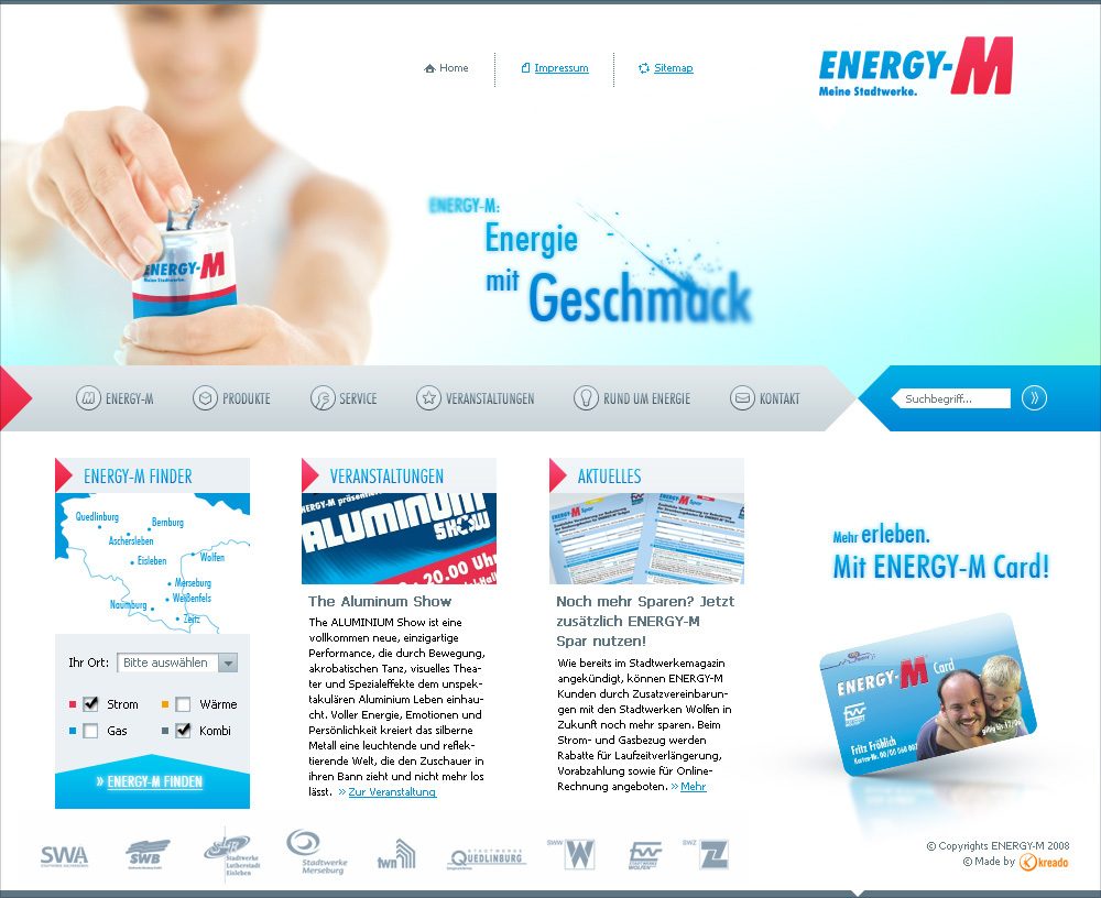 Energy-M, main page 2.