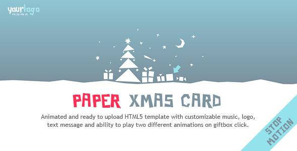 Paper Christmas Card - HTML5 Template
