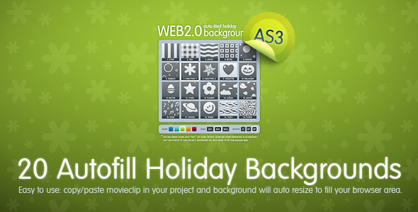20 Autofill Holiday Backgrounds AS3