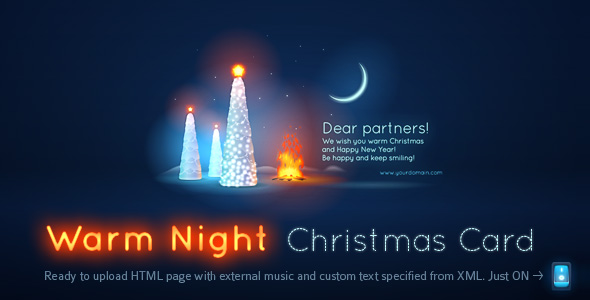 Warm Night Christmas Card