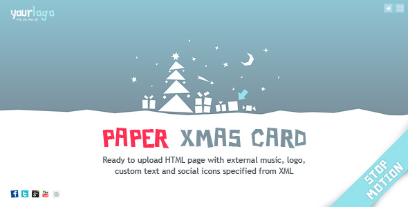 Stop-motion Paper Christmas Card XML