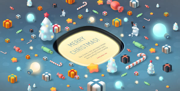 Gift Button Christmas Card XML