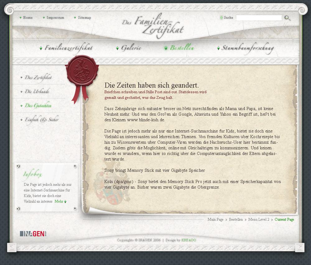Familien-Zertifikat