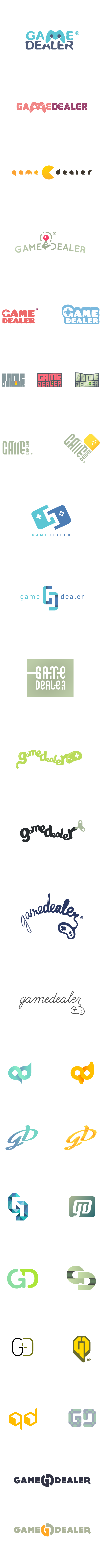 Gamedealer logo versions.