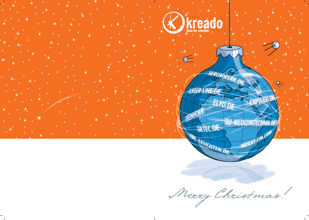 Kreado Christmas Card 2006, version for print.