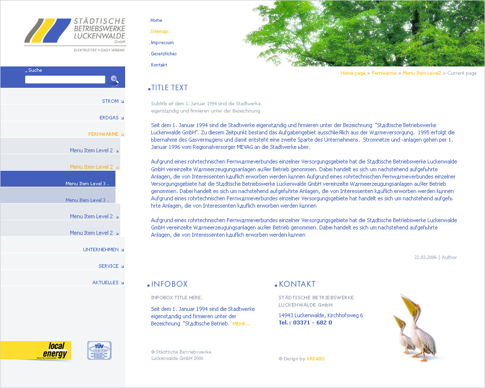 Luckenwalde GmbH, inside page.