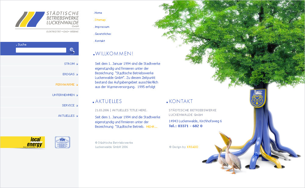 Luckenwalde GmbH, main page.