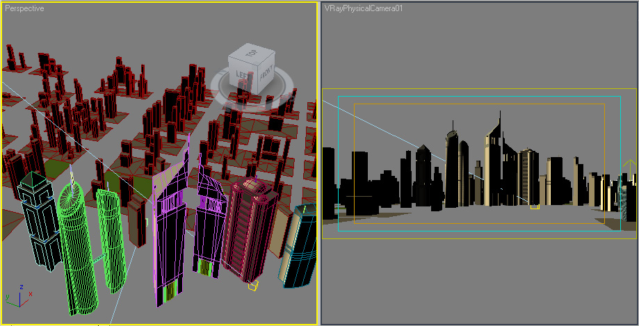 Mercuri Group, city 3D mesh.
