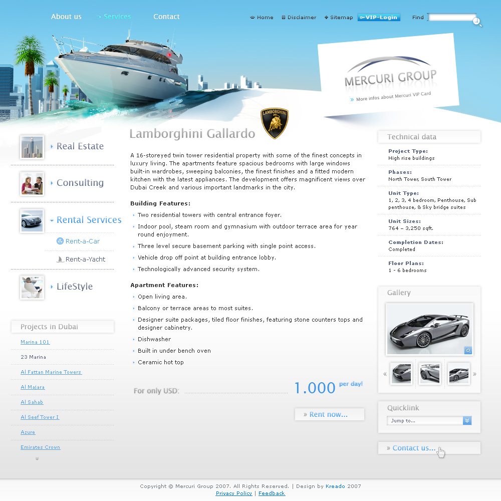 Mercuri Group, inside page, boat/day.