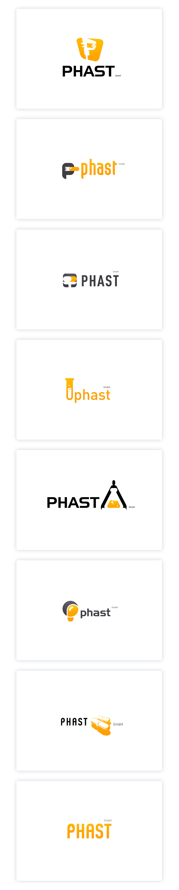 PHAST GmbH, logo drafts.
