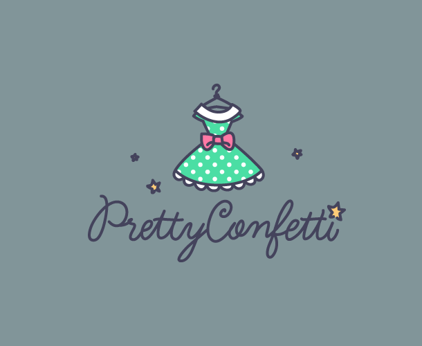 Pretty-Confetti, other logo versions.
