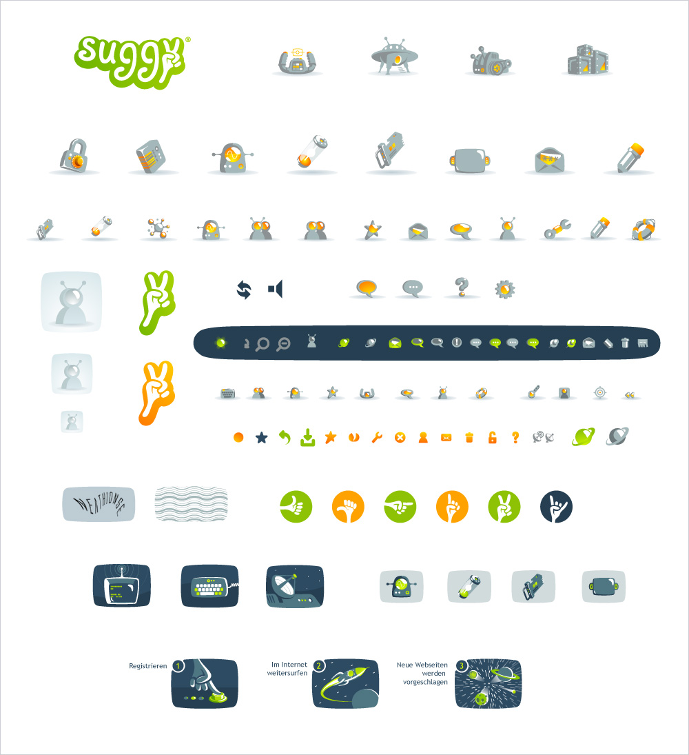 Suggy, icons for site.