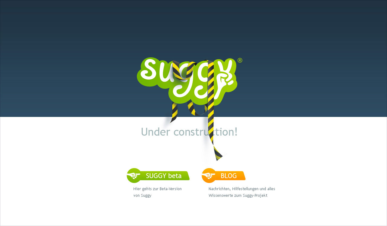Suggy, under construction page, version 2.